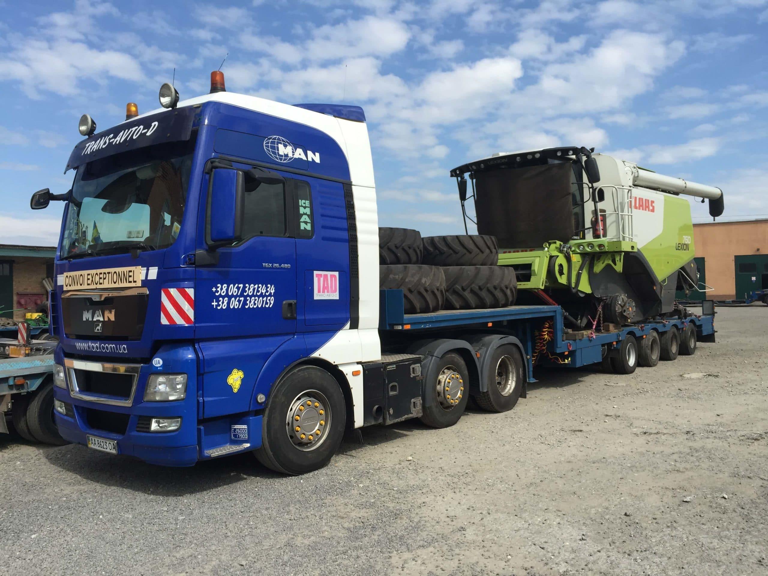 Перевозка комбайнов Claas Lexion 760 с Германии в Украину