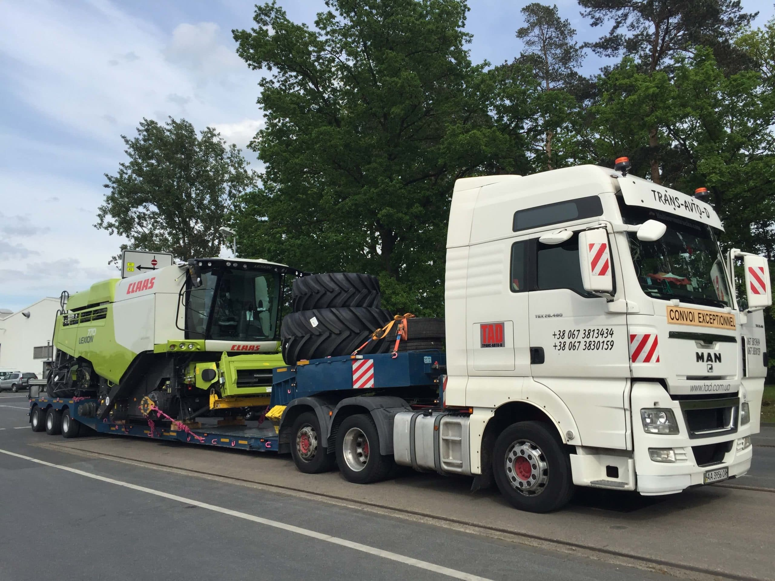 Transportation of Claas combines from Germany - 2