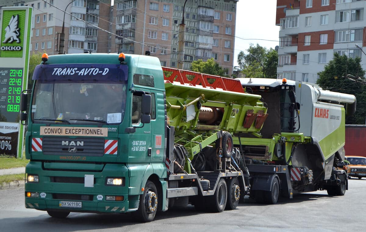 Transportation of combines Kiev