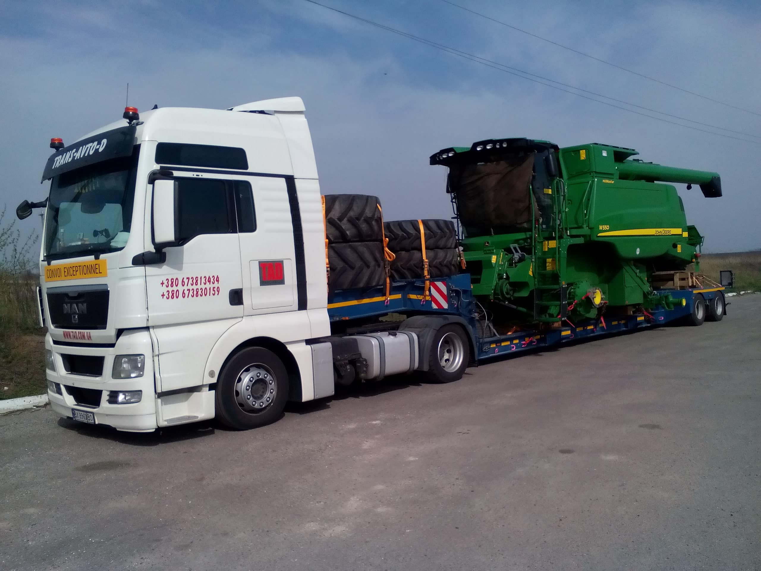 Transportation of combines from Germany to Vinnitsa