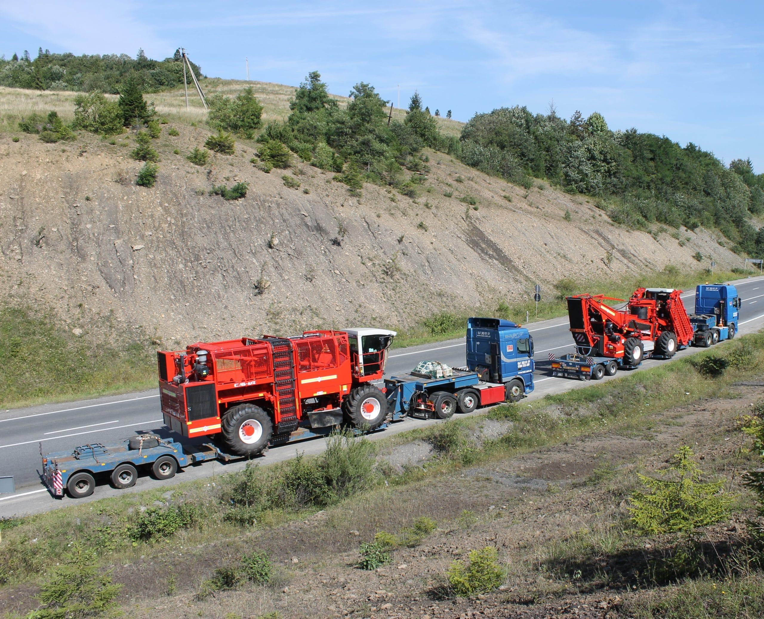 Перевозка комбайнов СORIMA Италия Украина