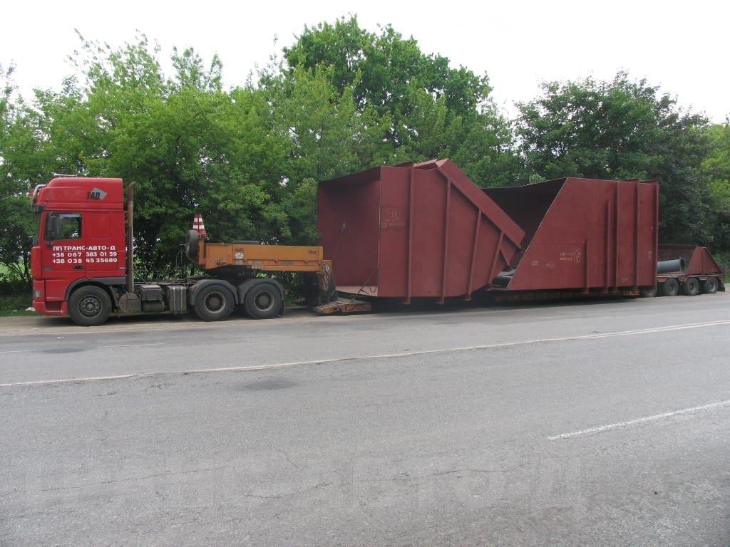 Перевозка оборудования для сахарной промышленности