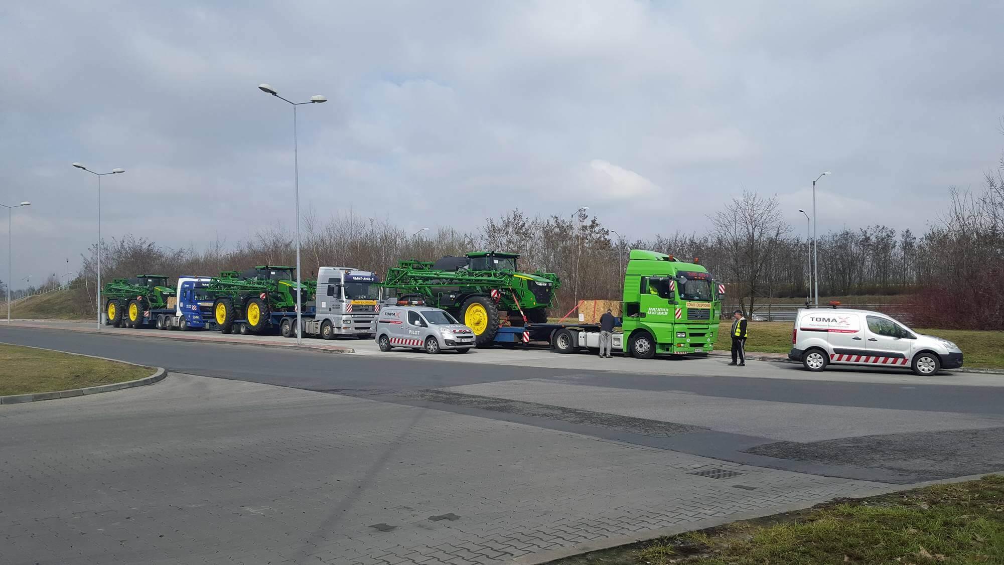 Перевозка опрыскивателей JohnDeer в Европе