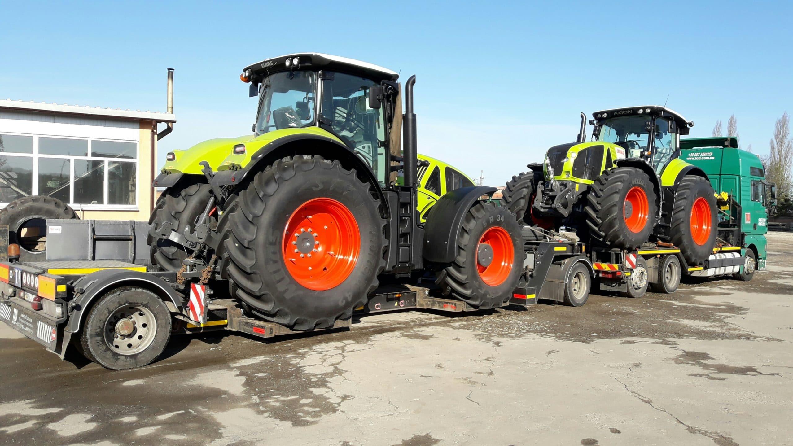 Перевозка тракторов Claas