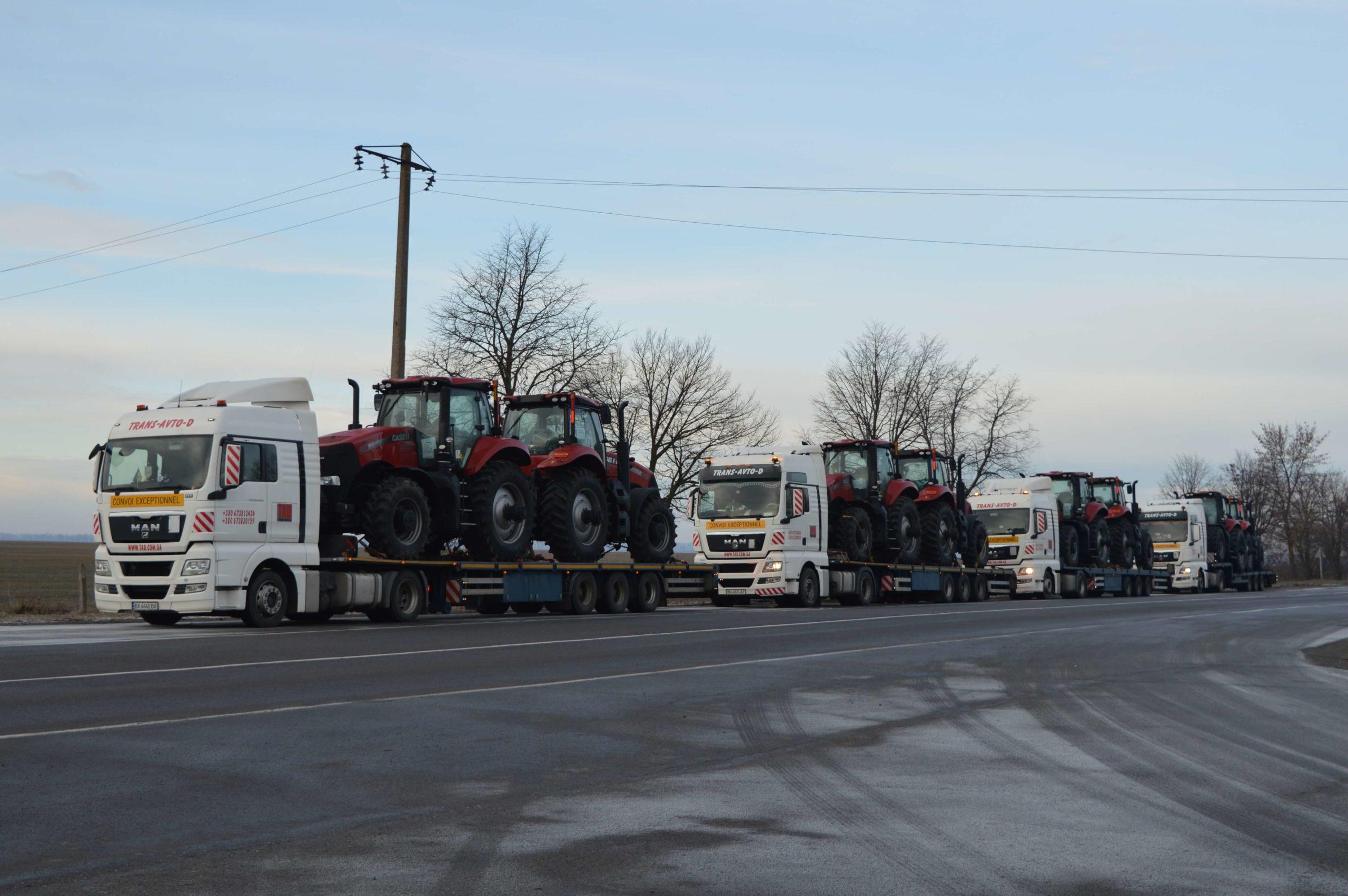 Перевозка тракторов Case IH Magnum 340 с Бельгии в Украину