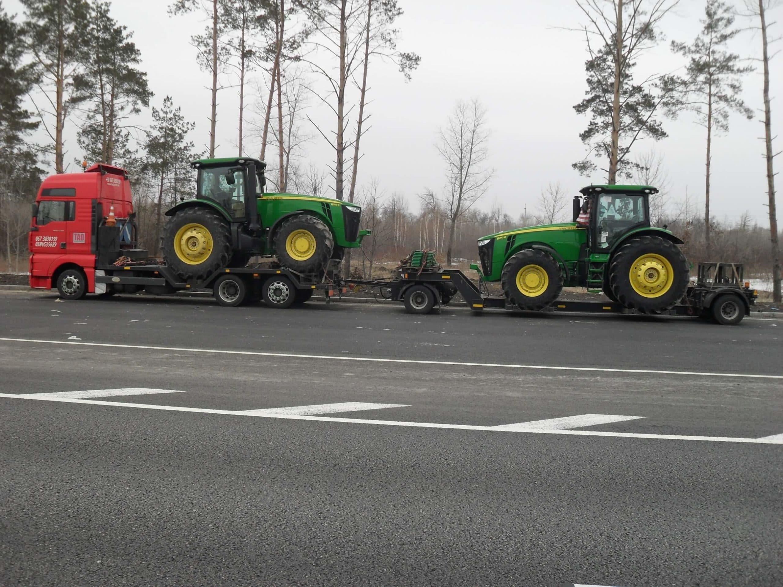 Перевозка тракторов Джон Дір Украина Львов