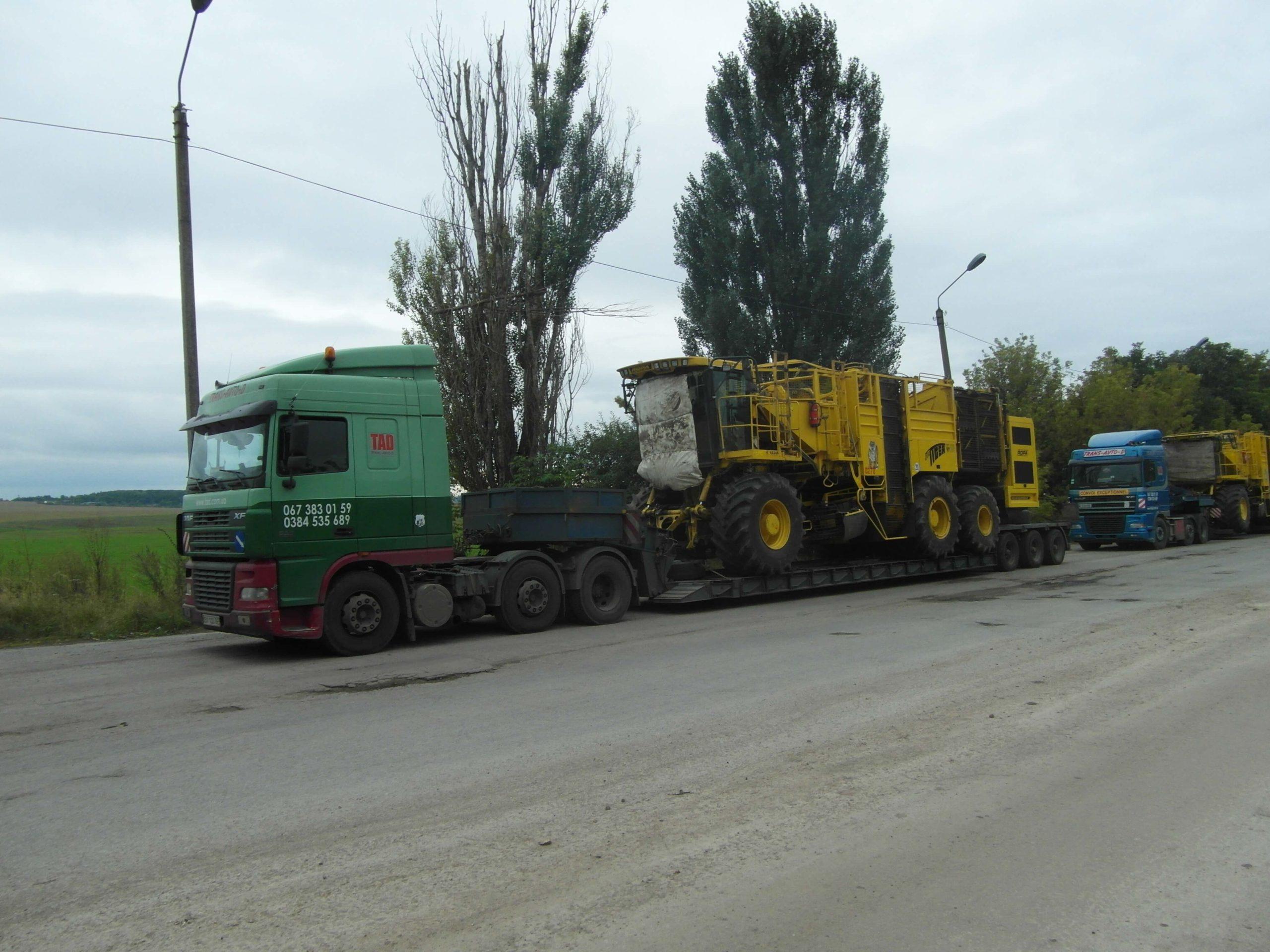 Transportation of beet harvesters 1