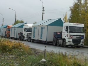 Transport of transformer substations