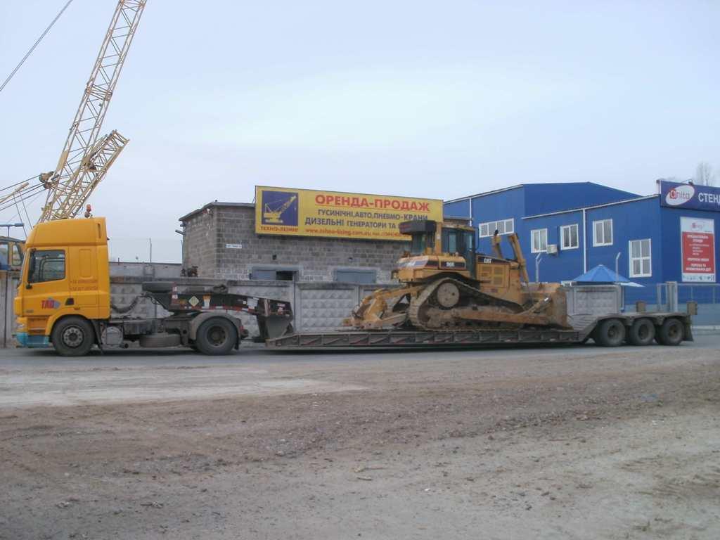 Перевозка гусеничного трактора CAT