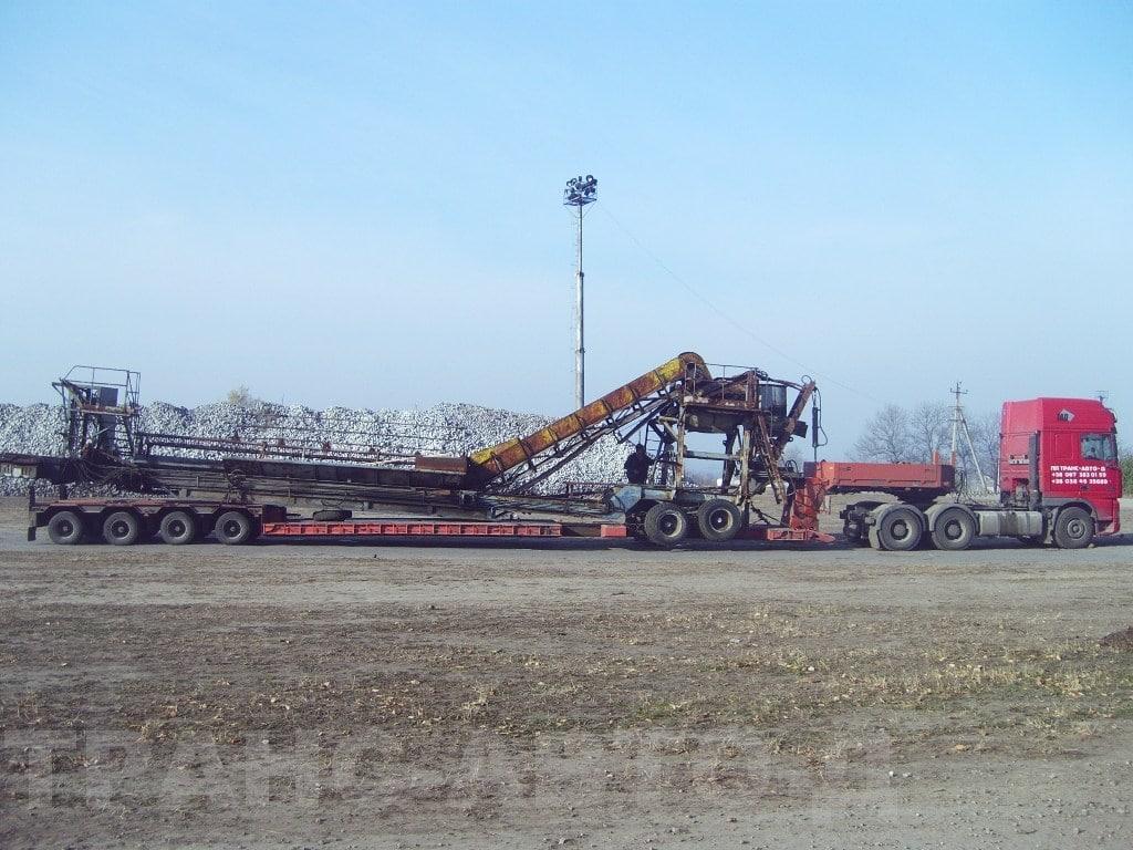 Перевозка оборудования для промышленности