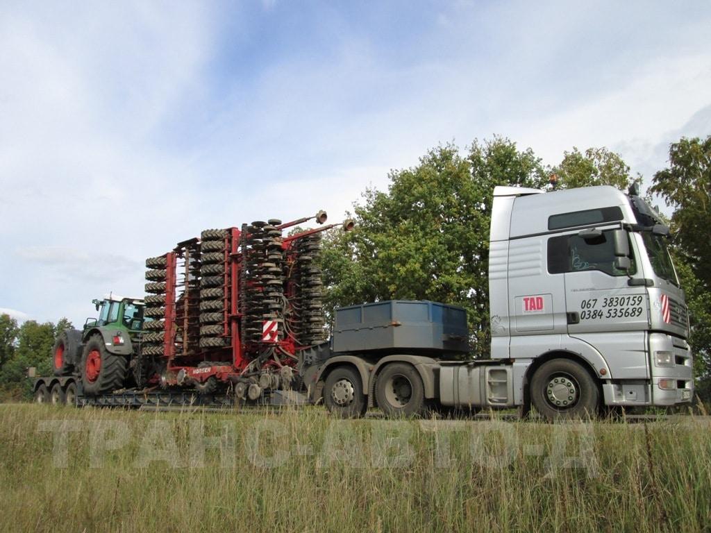 Перевозка культиватора с трактором Украина