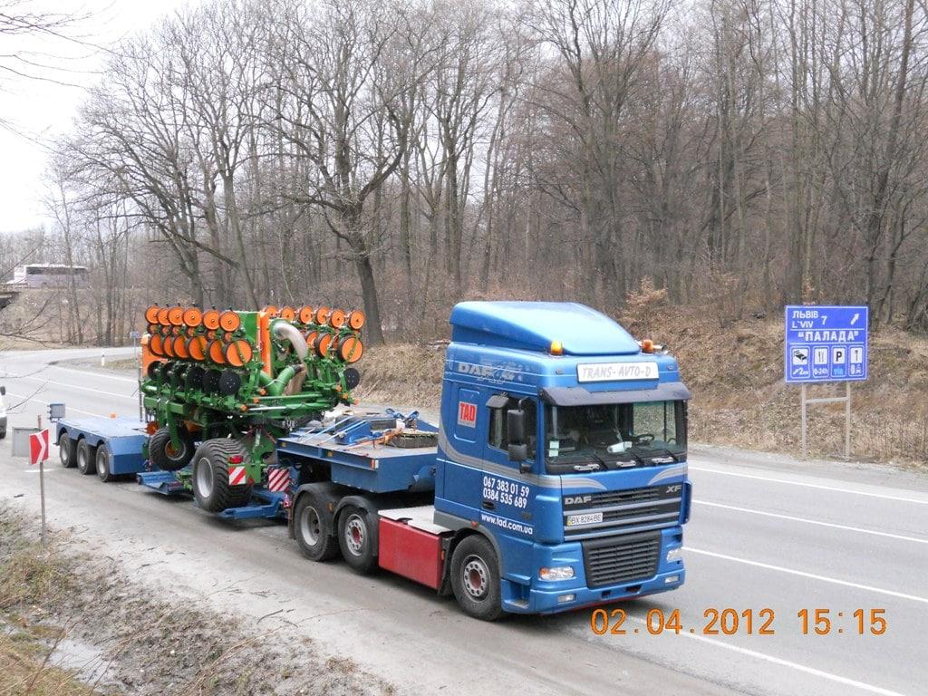 Перевозка посевного агрегата Германия-Украина