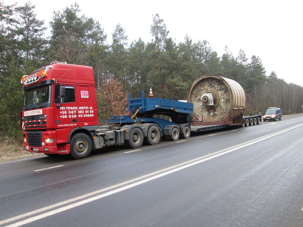 Перевозка негабаритного груза Беларусь Украина