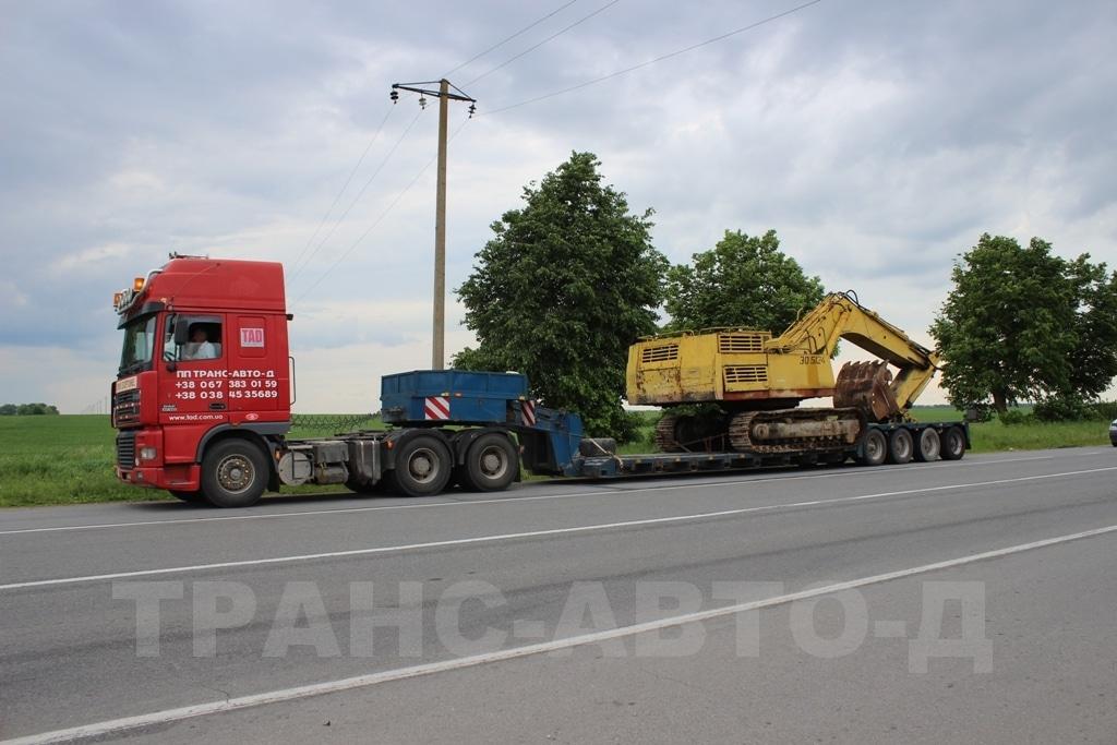 Перевозка экскаватора по Укрине и за рубежом