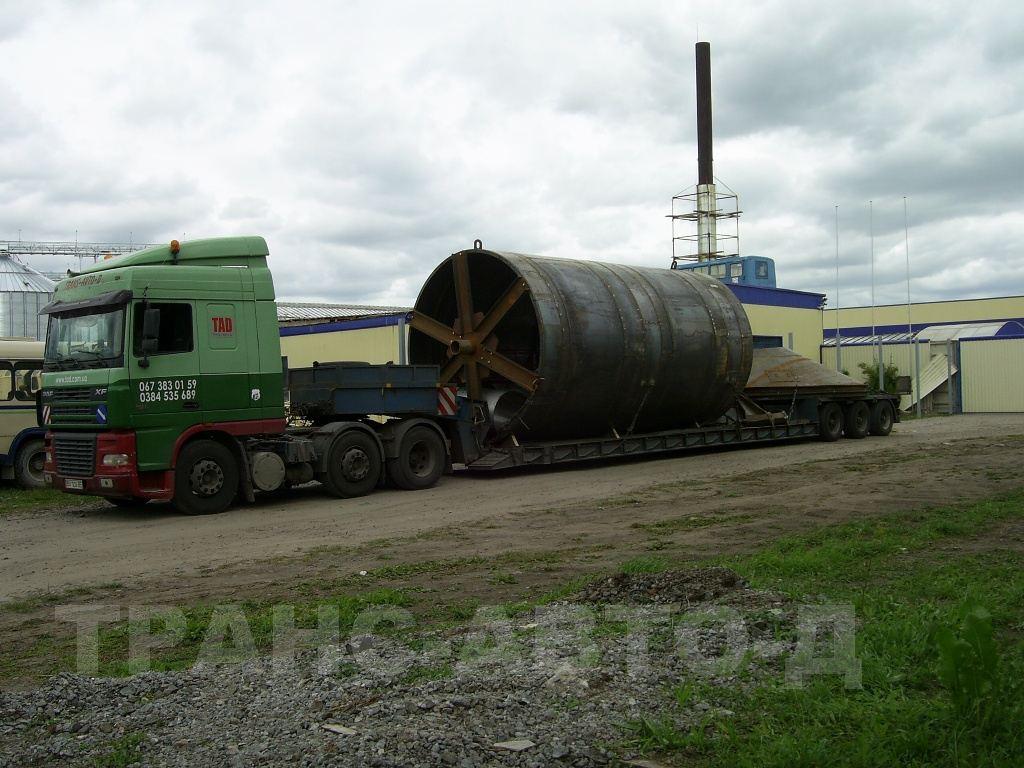 Перевозка трубы большого диаметра