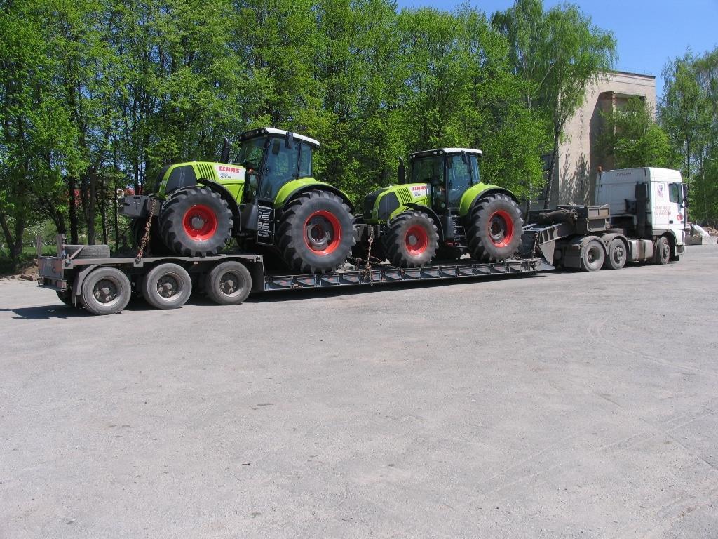 Перевозка тракторов Claas AXION 850 Украина - 2