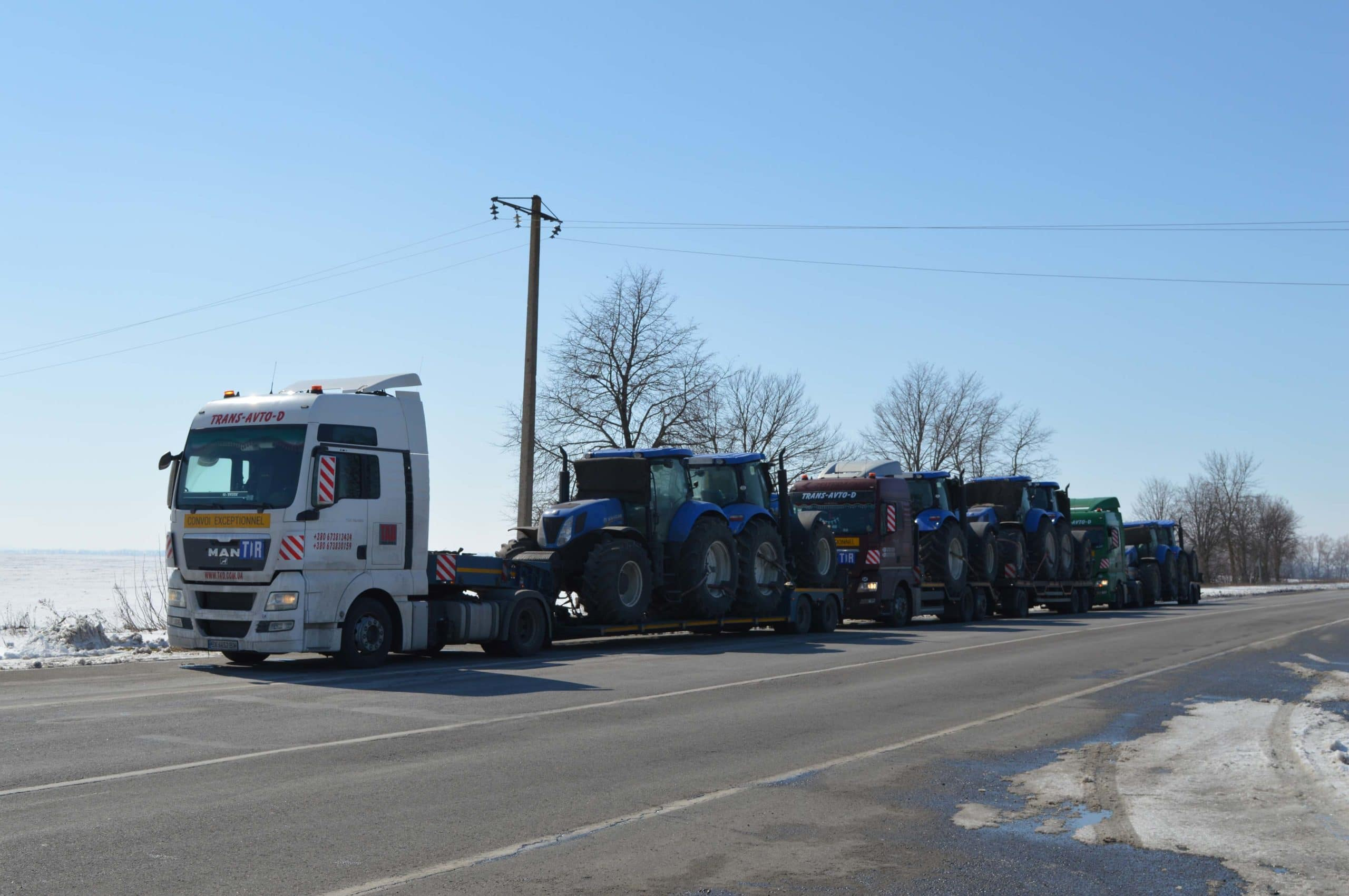 Перевозка тракторов New Holland по маршруту Англия Молдова