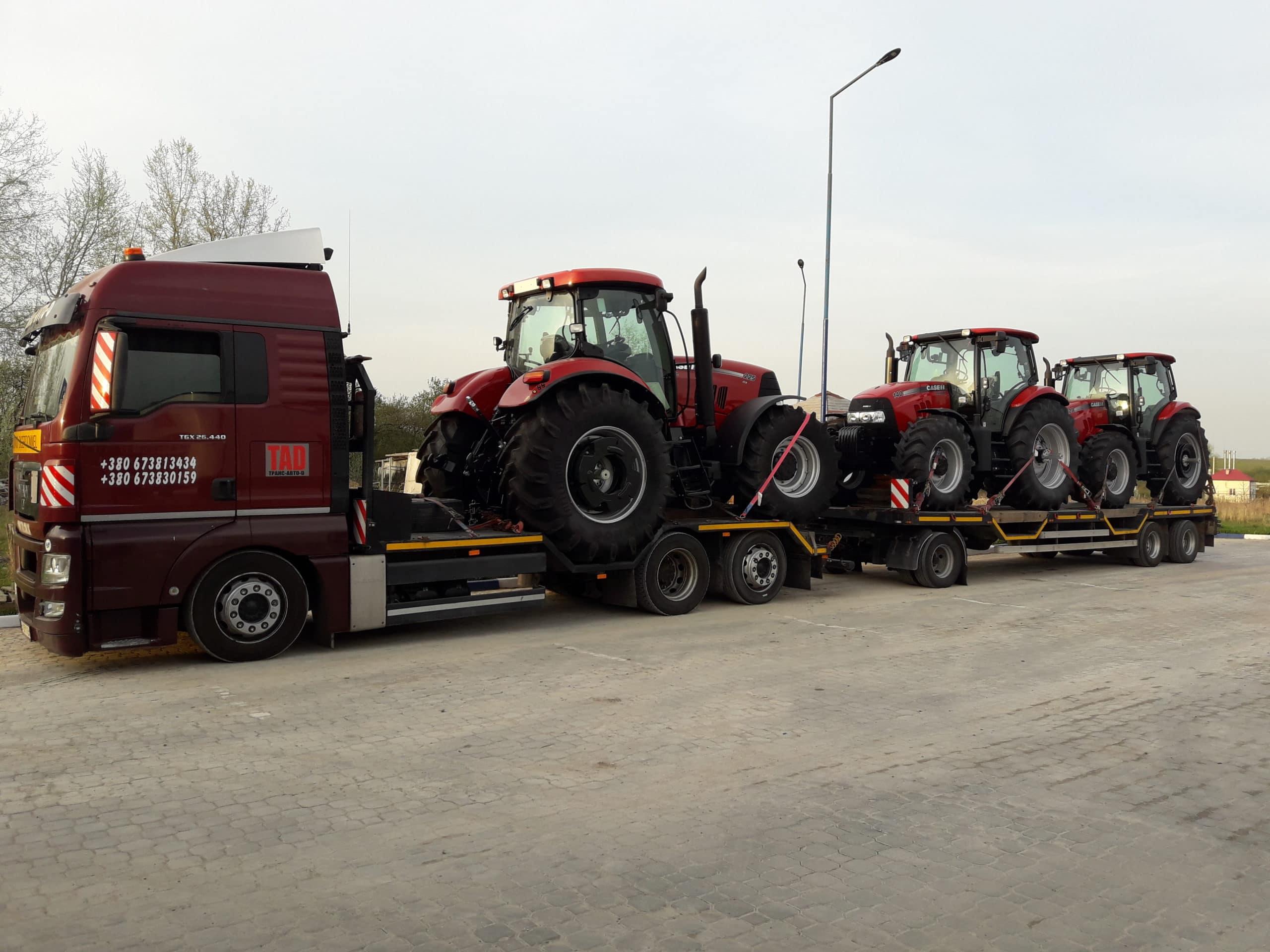 Перевозка тракторов CASE 225