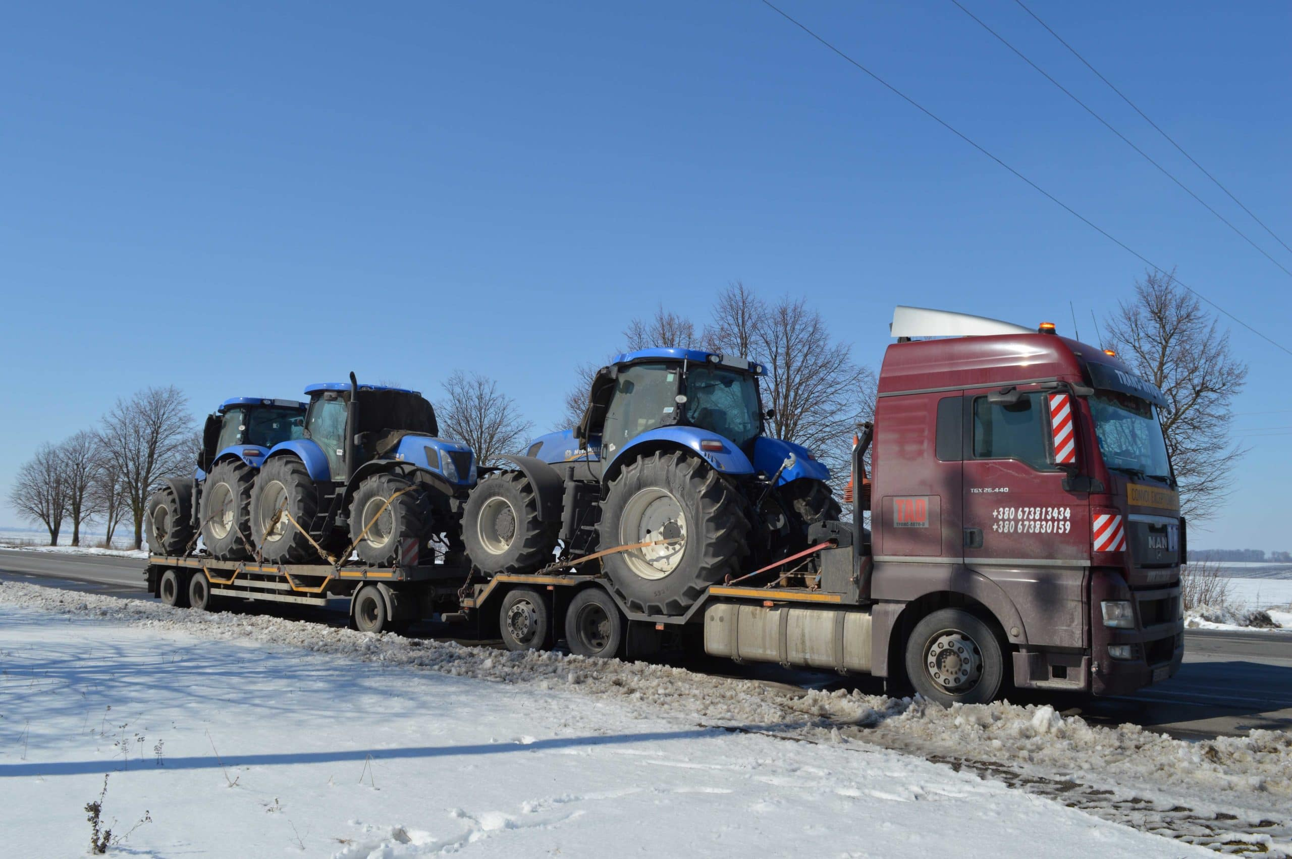Перевозка тракторов new holland в Молдову