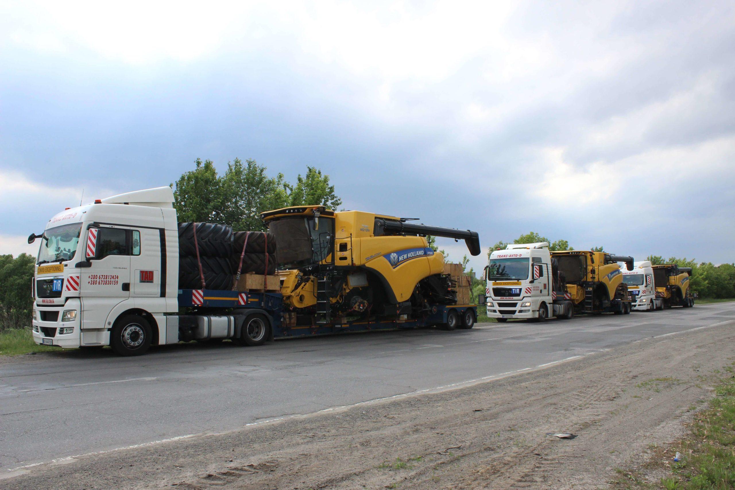 Перевозка комбайнов New Holland CR9.80 c Бельгии в Молдову