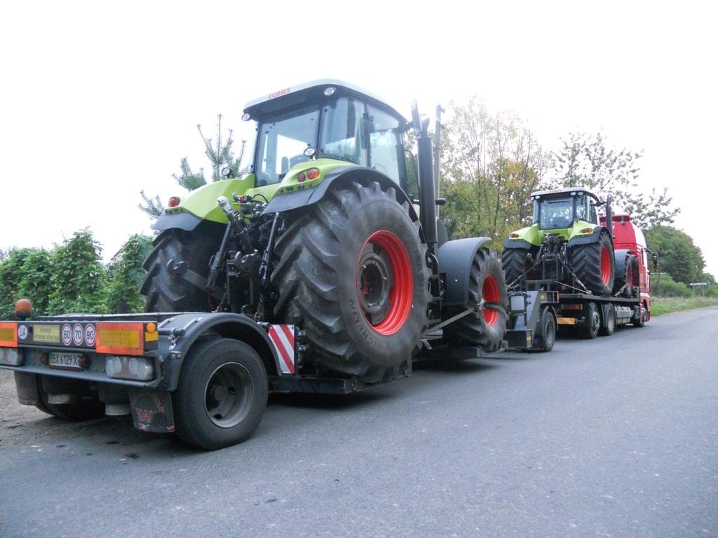 Перевозка трактора Claas
