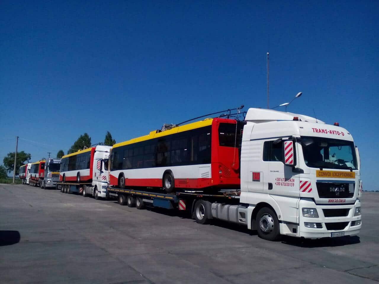 Перевозка трамваев с Европы в Украину