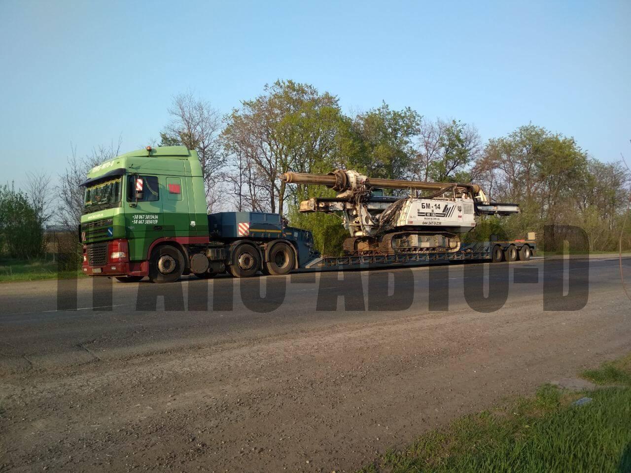 Перевозка сваевдавливающей установки по Украине