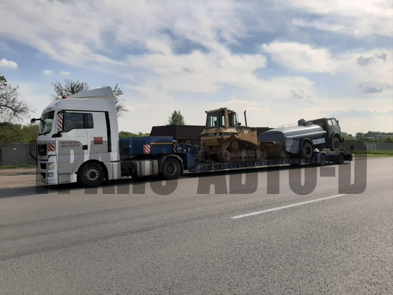 Перевозка бульдозера по Украине - 2 Полтава