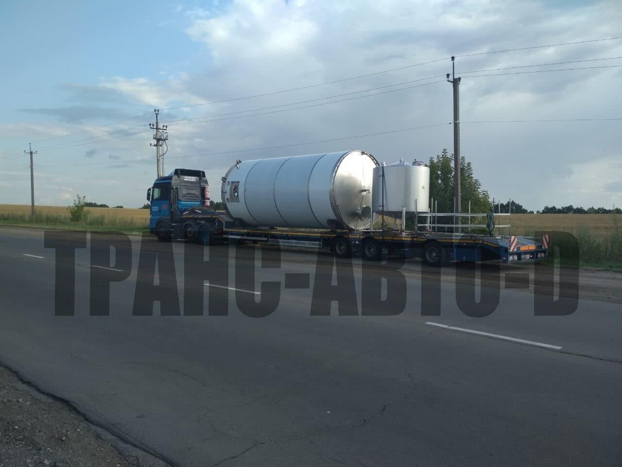 Перевозка бункера большого диаметра Украина