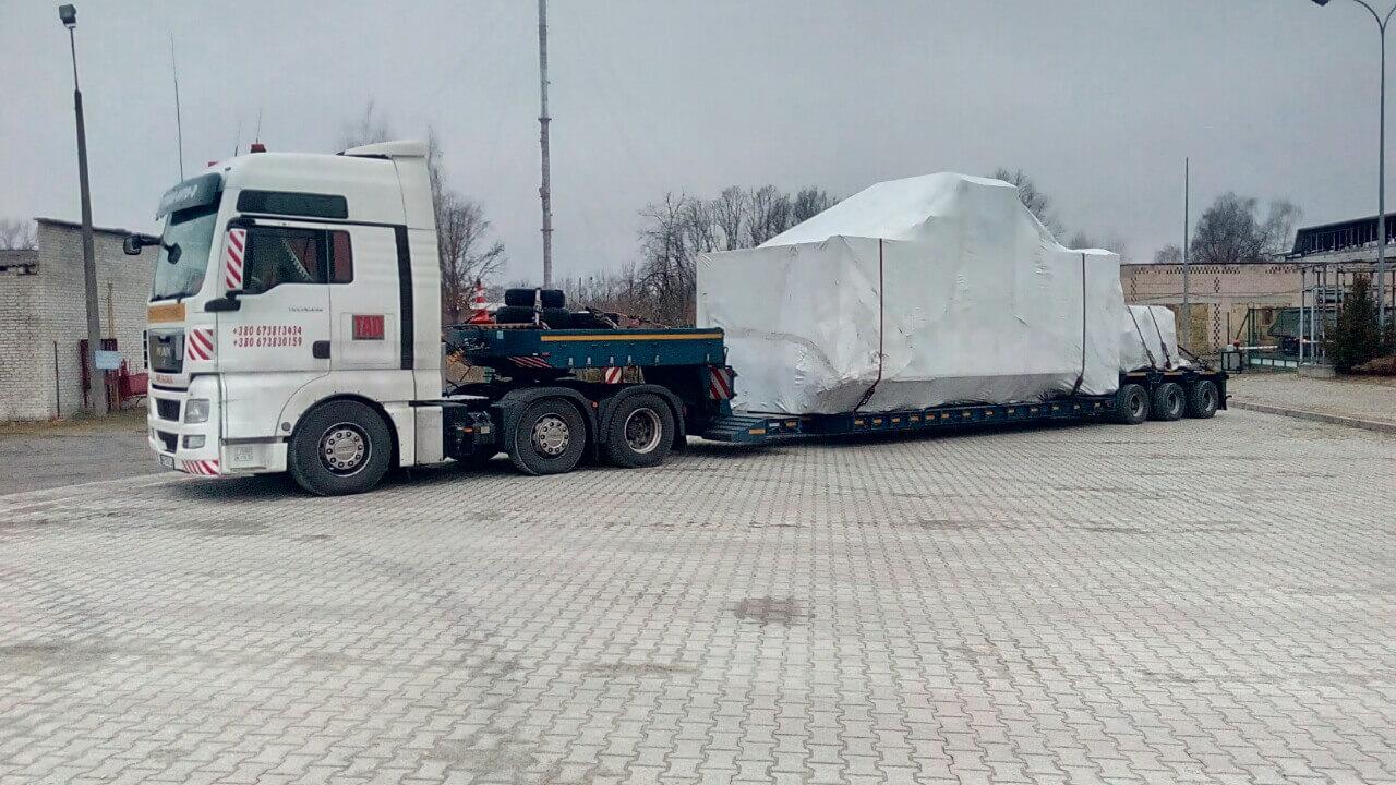 Негабаритные перевозки на трале больших размеров