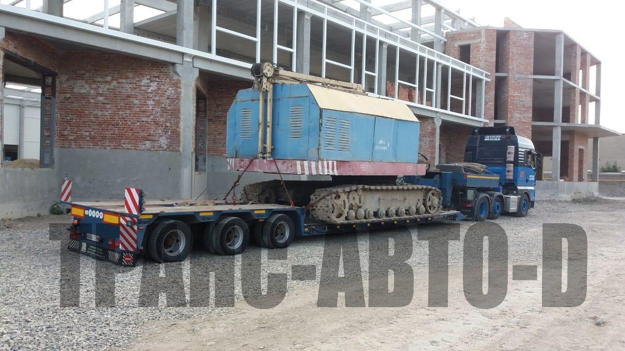 Перевозка строительного крана по Украине