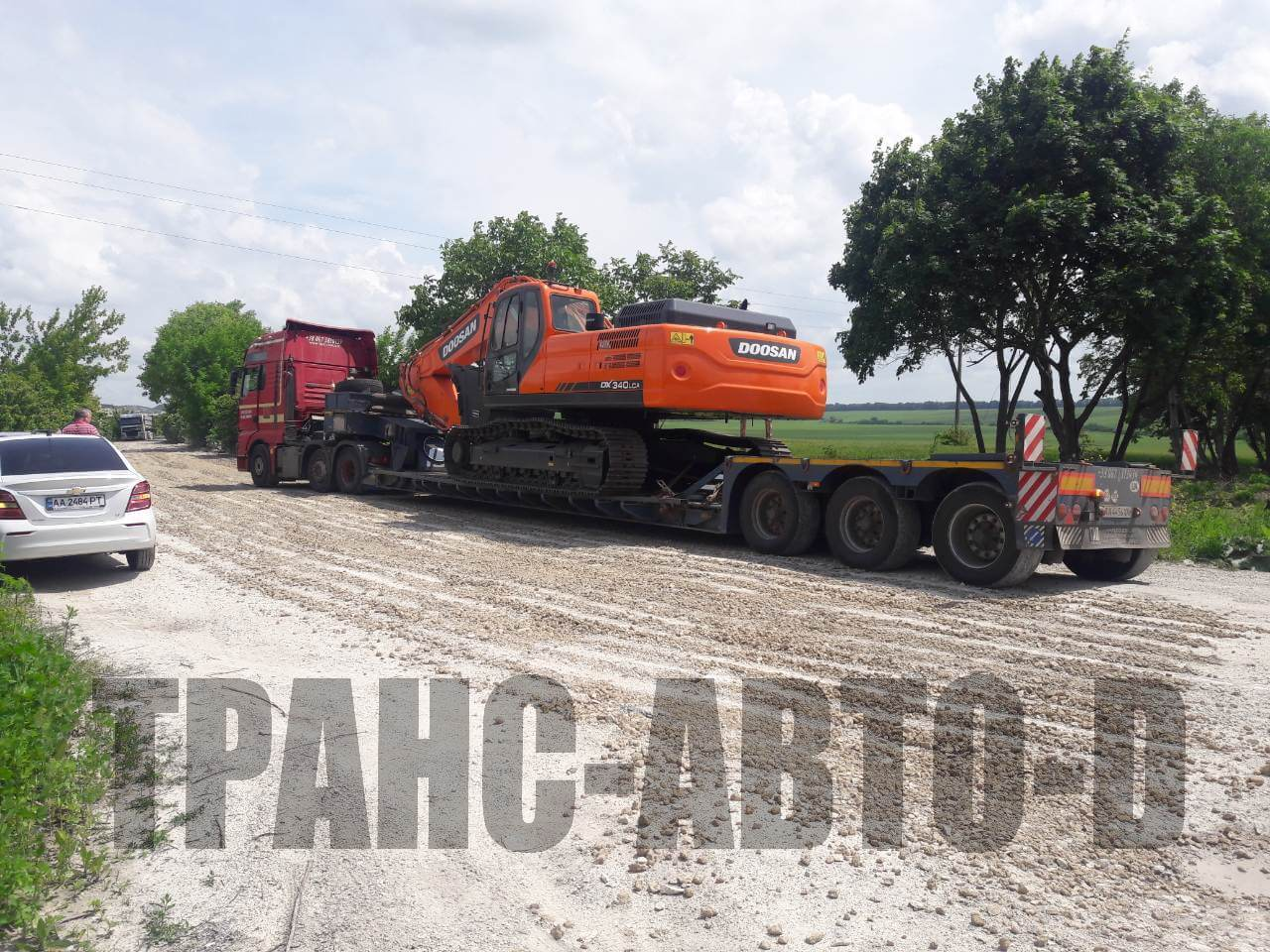 Transportation of the Doosan excavator from Europe to Ukraine - 2