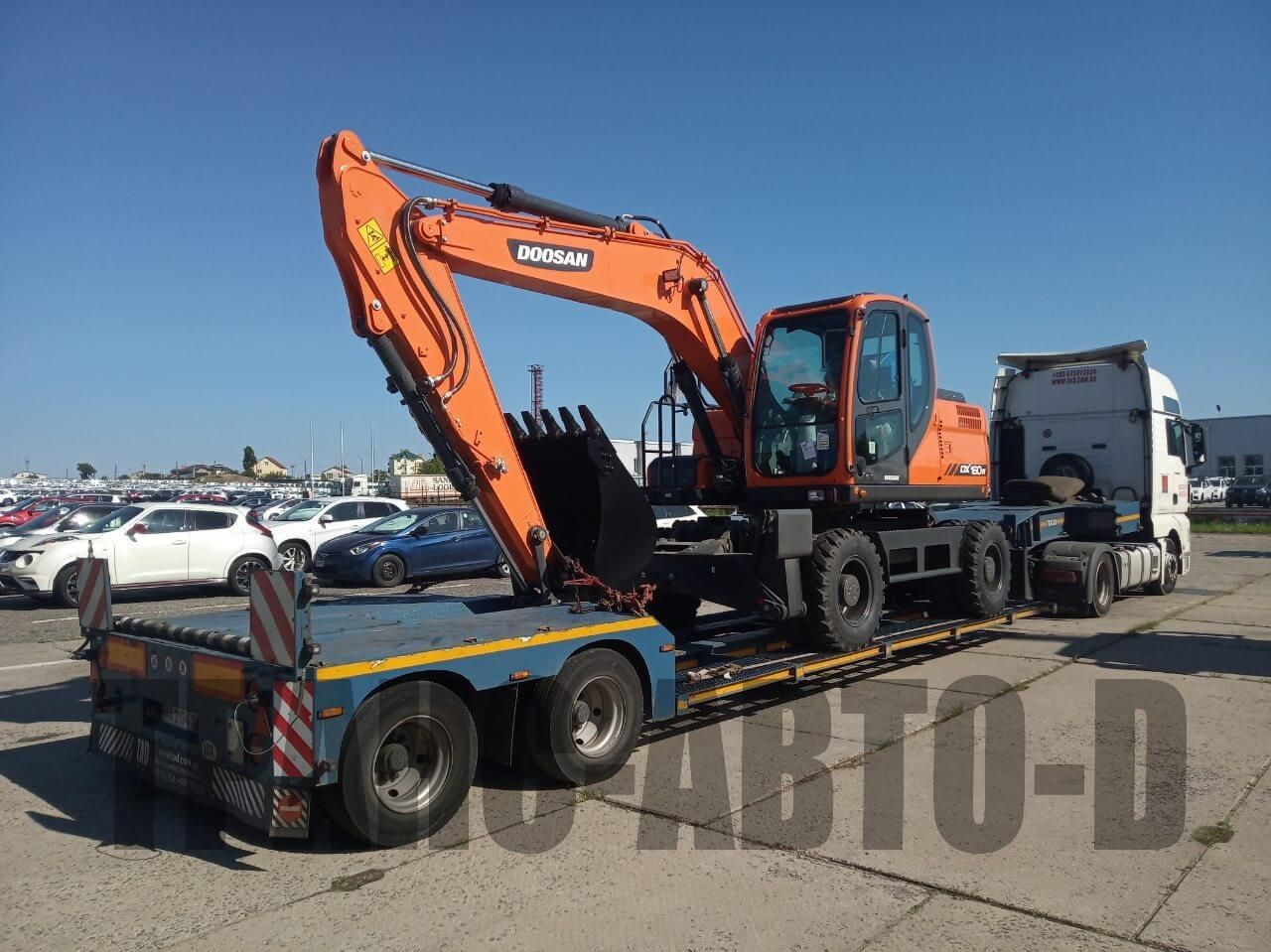 Transportation of the Doosan excavator from Europe to Ukraine - 3