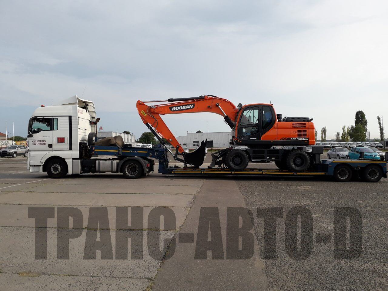 Transportation of the Doosan excavator from Europe to Ukraine