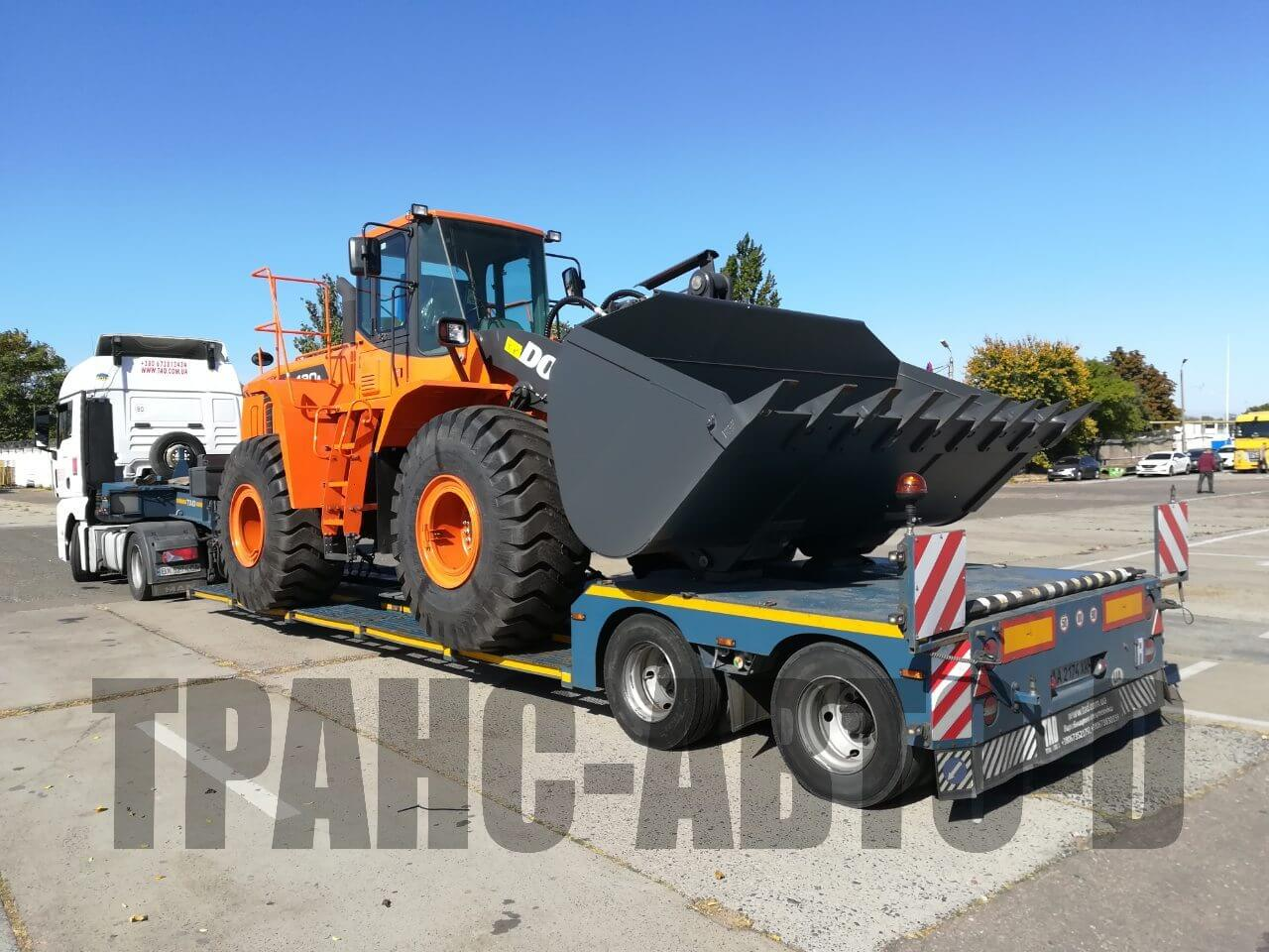Transportation of the Doosan bulldozer from Europe to Ukraine - 5