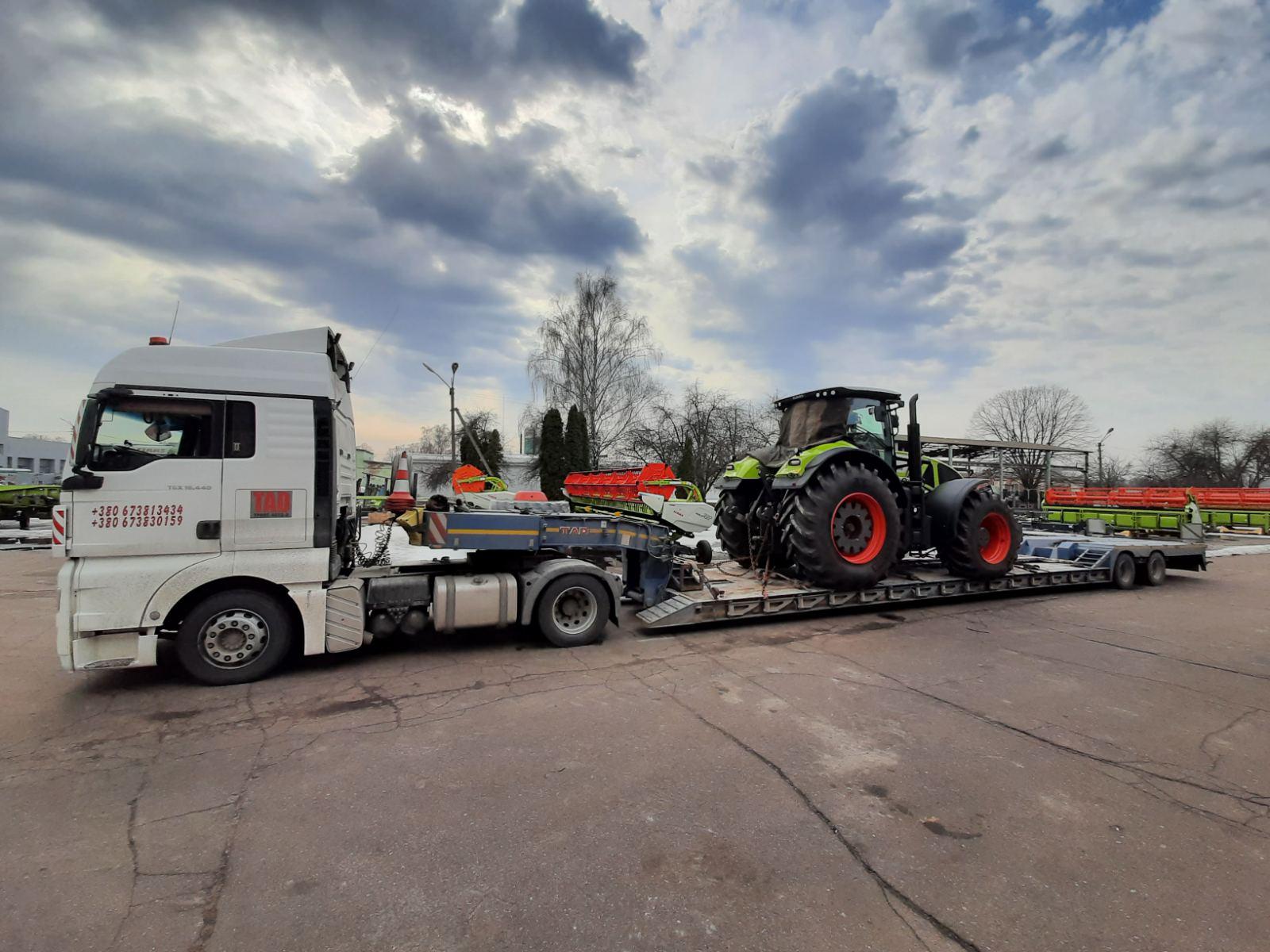 Перевозка трактора JohnDeer
