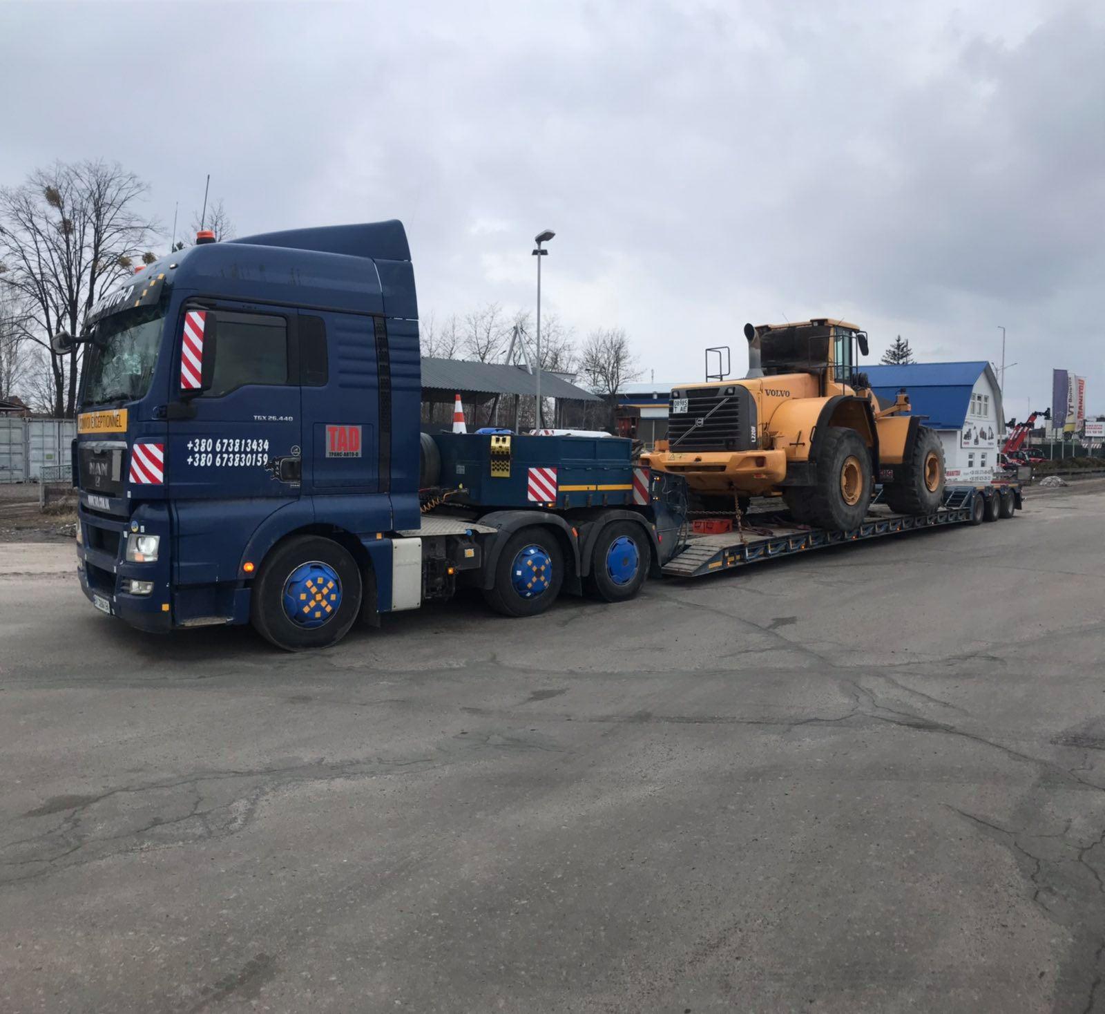 Перевозка техники Volvo