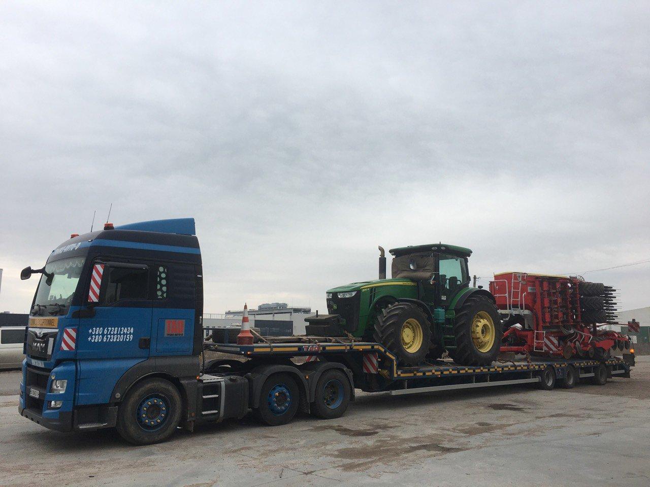 Перевезення трактора JohnDeer