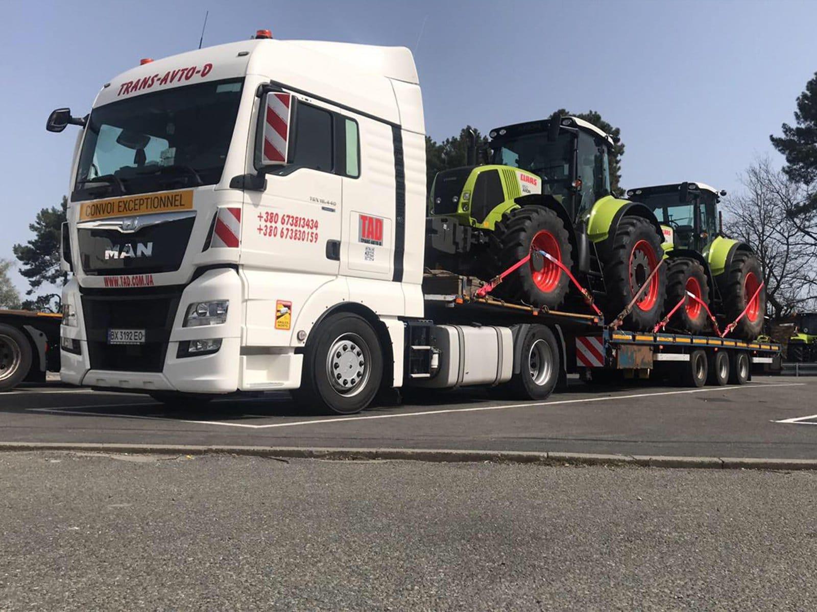Перевозка тракторов CLASS