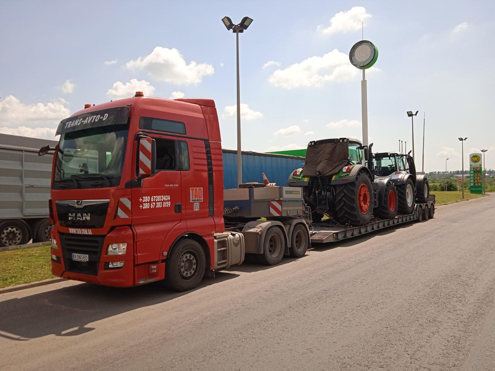Перевезення тракторів