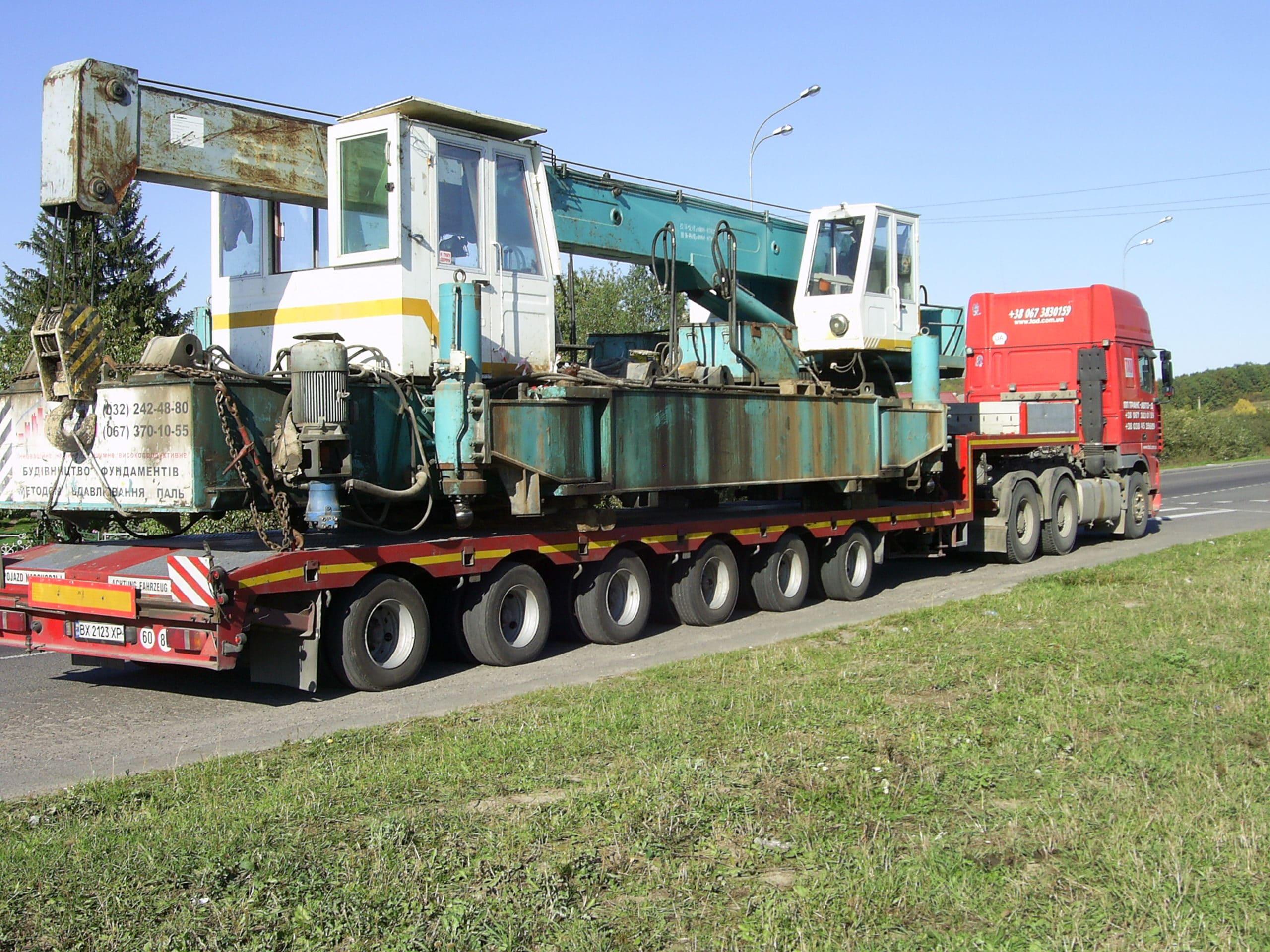 Перевозки железнодорожного крана