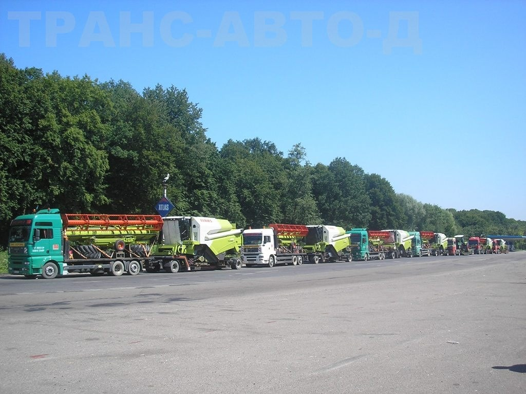 Transportation-combines-Claas-along the route-Bulgaria-Ukraine