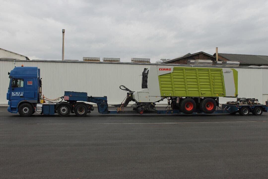 Transport-round baler-Claas-9500