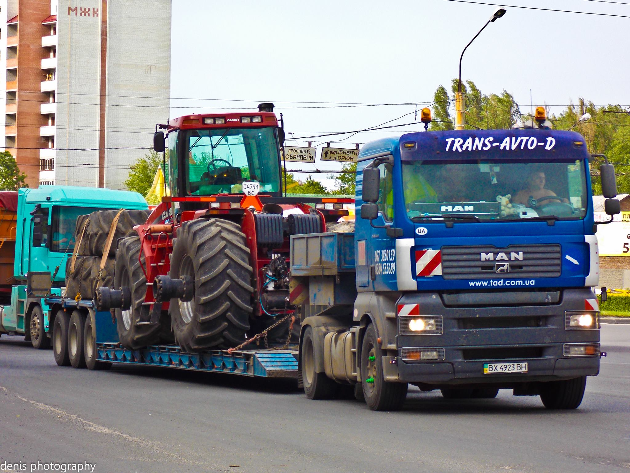 Transportation of tractors Kiev