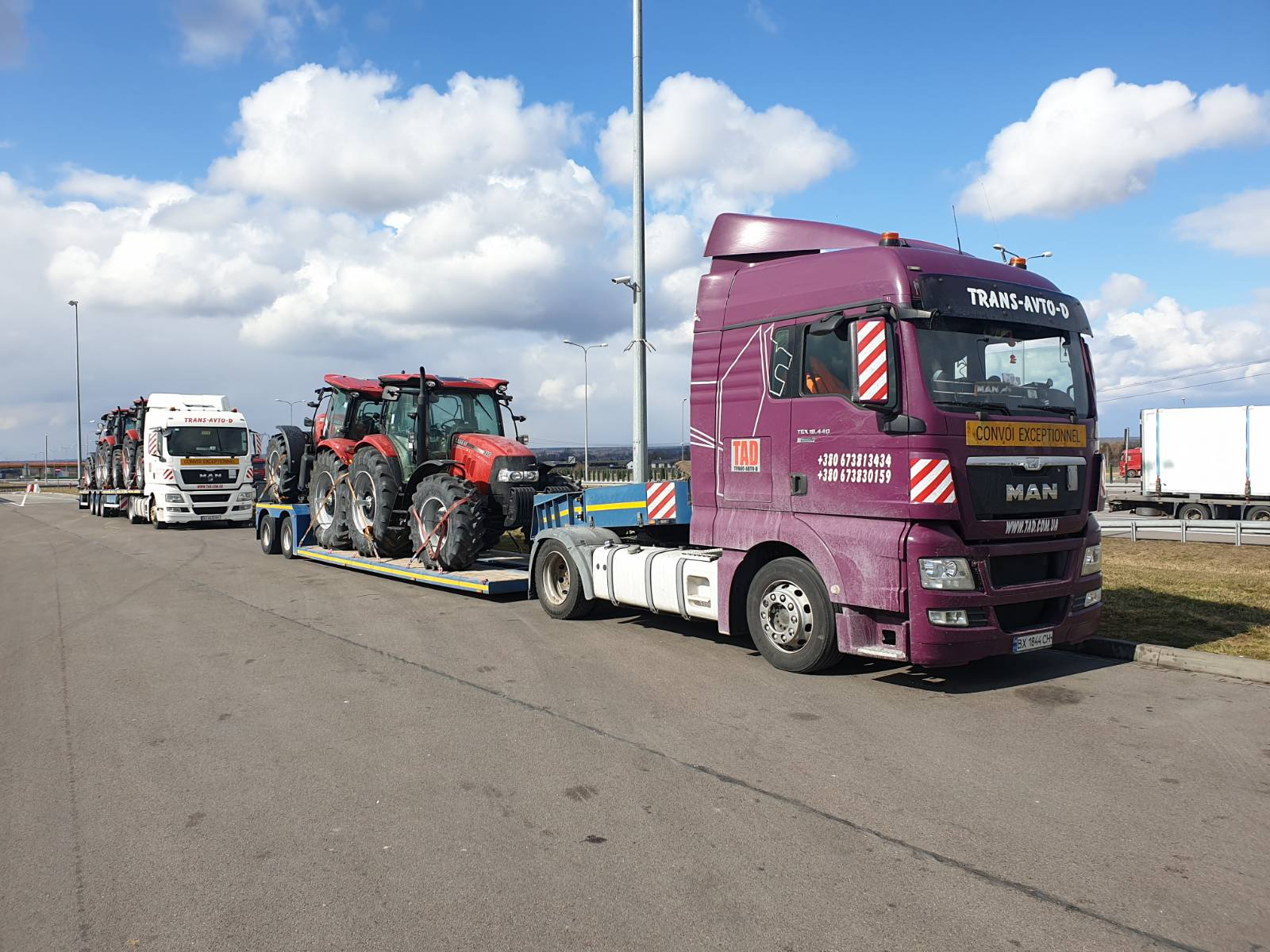 Transportation of tractors
