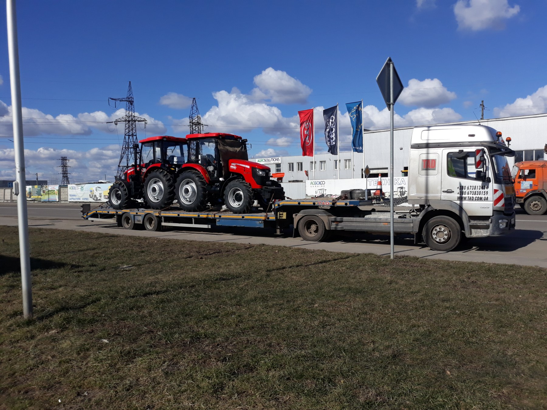 Transportation of new tractors