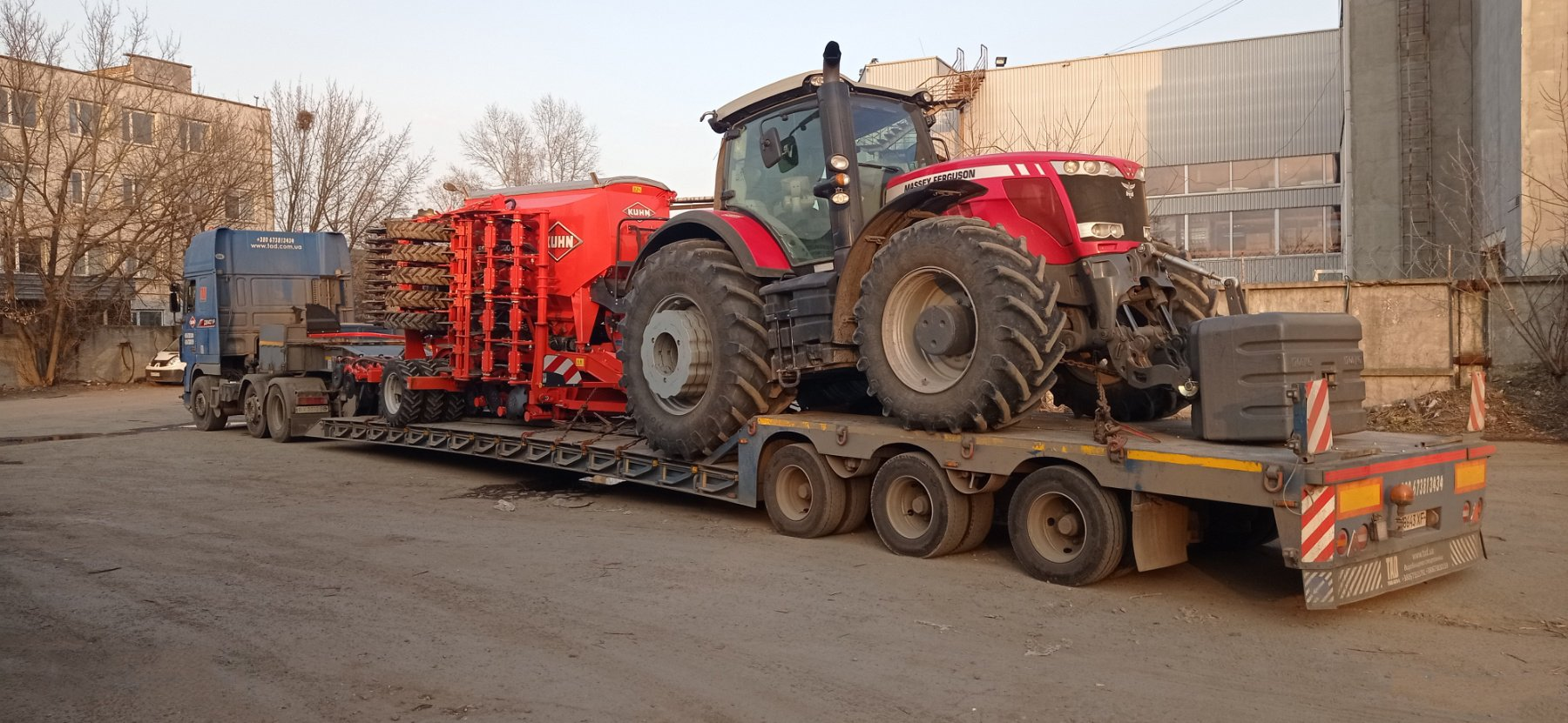 Transporting of Massey tractor