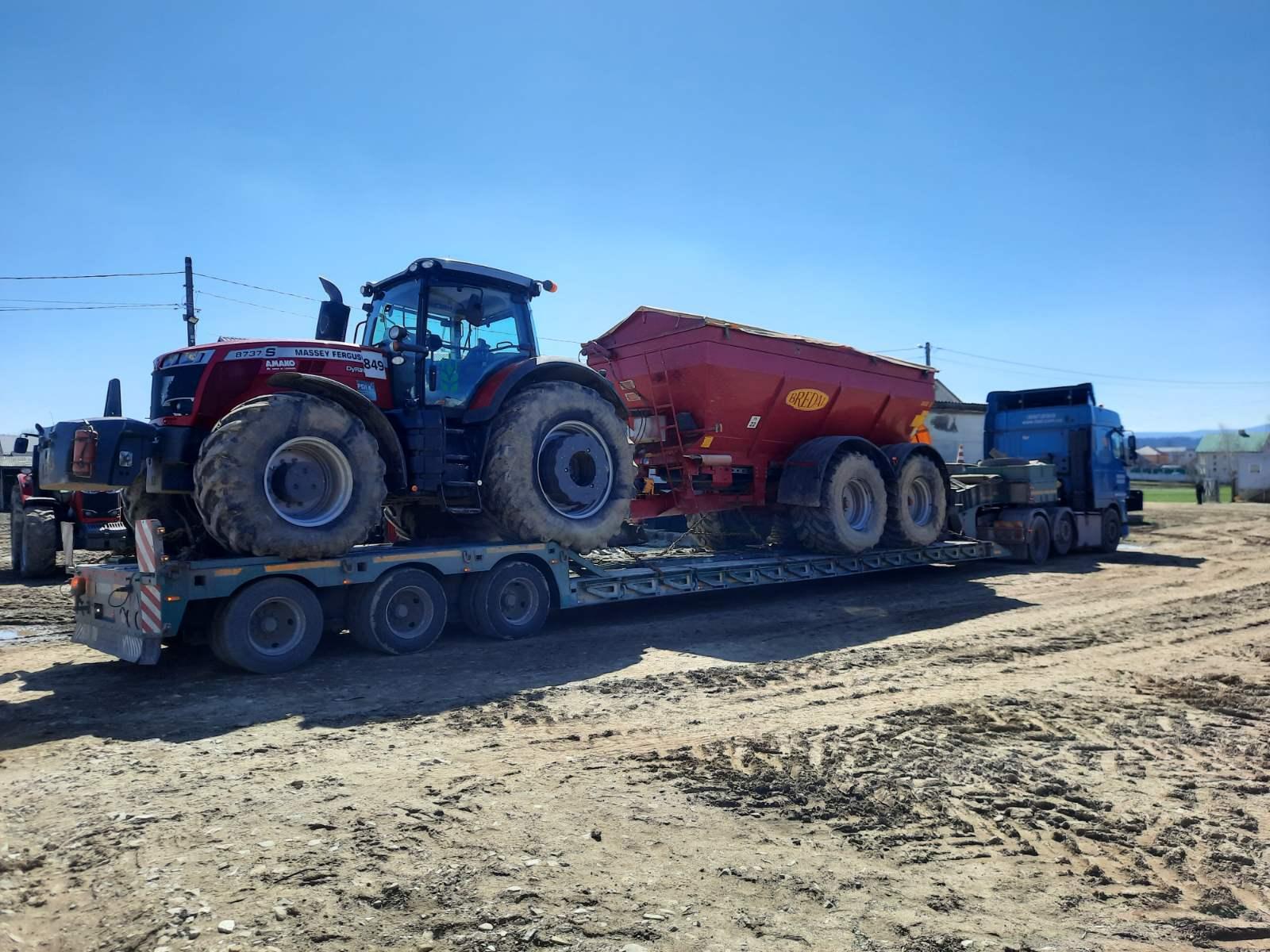 Перевозка трактора Massey Ferguson
