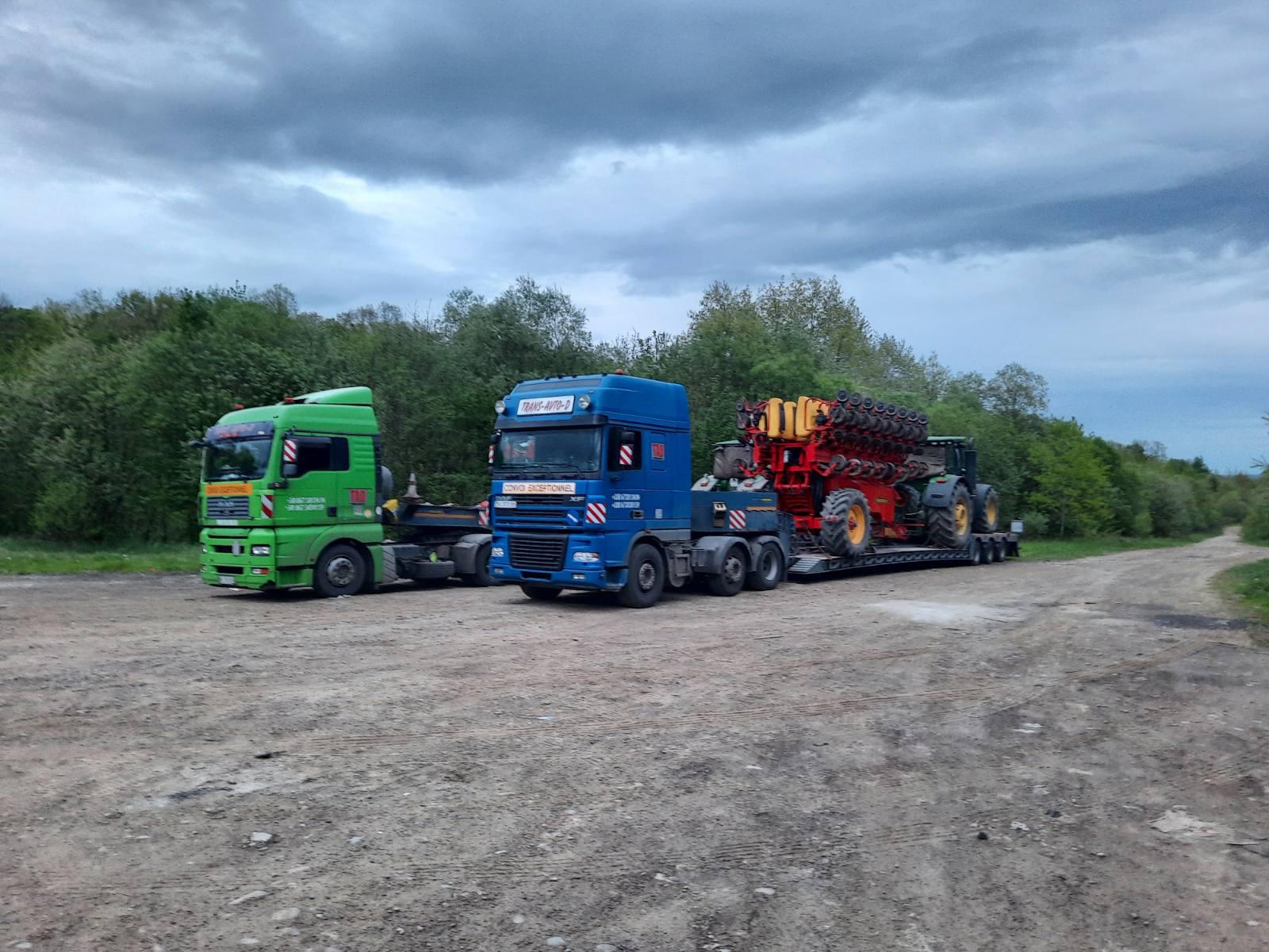 Перевозка тракторов и навесного