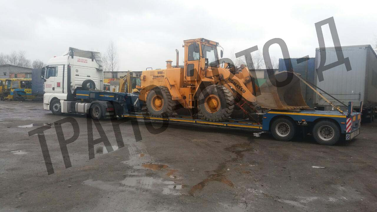 Transportation-of-KOMATSU-excavator-across-Ukraine